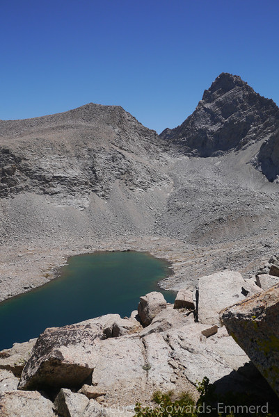 Looking down on the Upper Lake and Junction Peak.