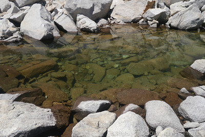 The water here is among the clearest you'll find in the Sierra.