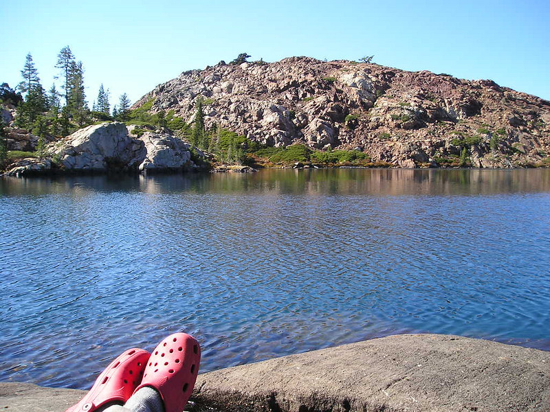 My afternoon perch<br /> <br /> I wrote in my journal, read a book, and relaxed here on the shore of Penner Lake