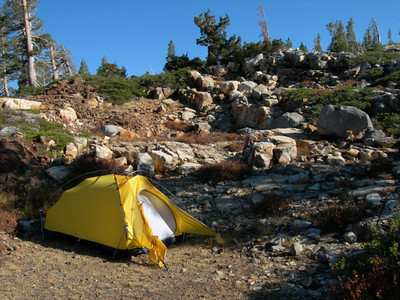 Camp - with the new Sierra Designs Hercules Assault tent