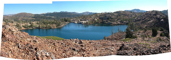 Penner lake panorama from above - our overnight home