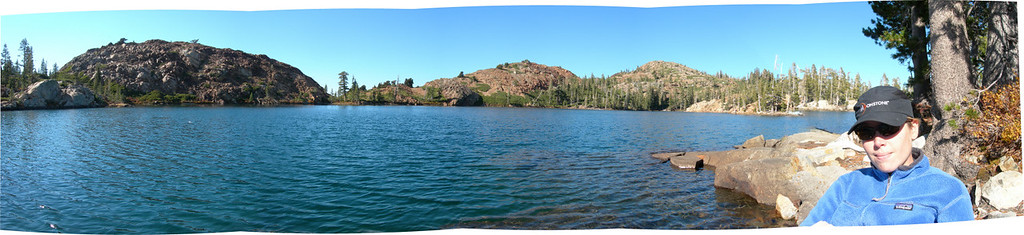 Penner Lake from lake level - and me.