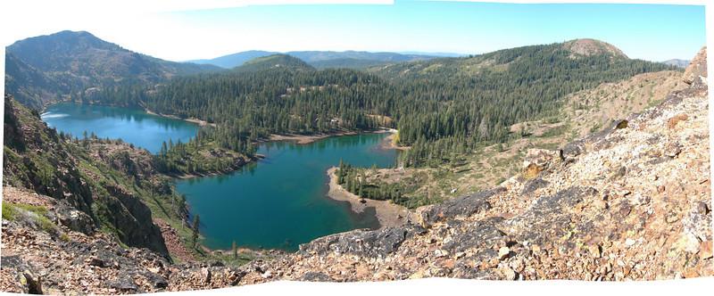 Panorama of lakes
