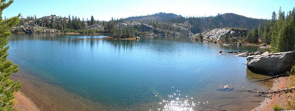 Island lake panorama