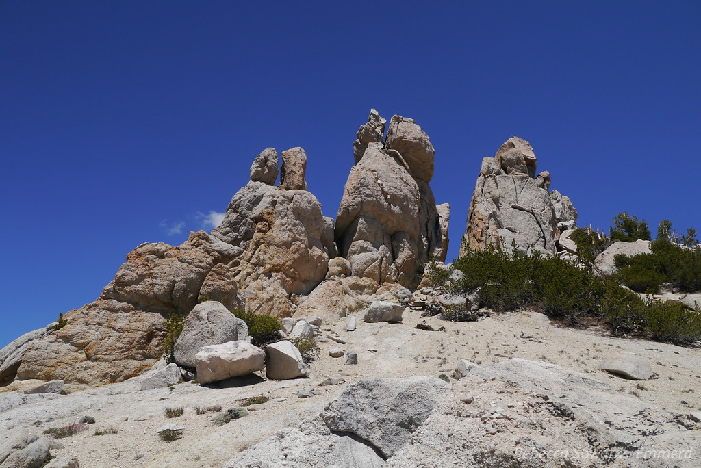 Awesome rock piles up on the saddle.