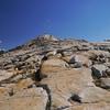 Walking the ridge to the summit