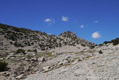 Looking back on Ragged Peak