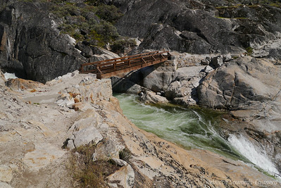 Next we hiked upstream from our campsite to the  bridge.