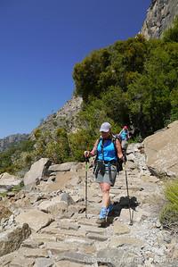 Sooz on the trail