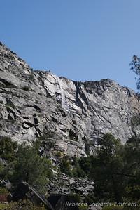 Looking up on a Tueeulala Falls