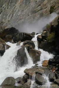 Cascade at the bottom of Wapama Falls