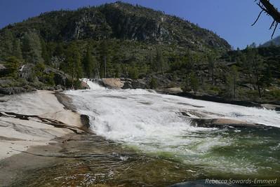 Rancheria Falls cascades and LeConte Point