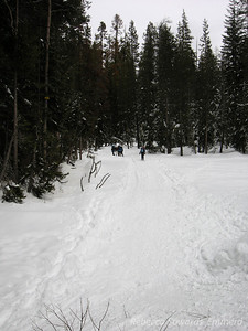 We turn off the road to head out to dewey point.