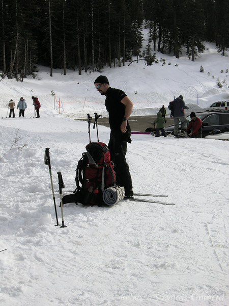David was the only one on skis