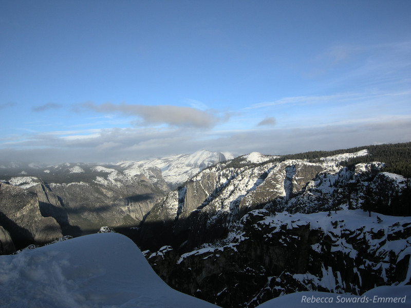 Sun is on Half dome now - it's peeking out from behind Sentinel Dome