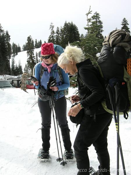 Pavla and Karen discuss GPSing