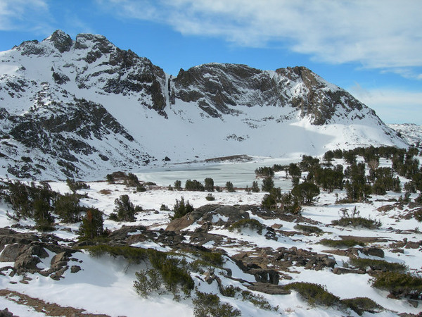 Round Top Lake<br /> <br /> Looking toward Round Top Lake and the couloir on the Three Sisters
