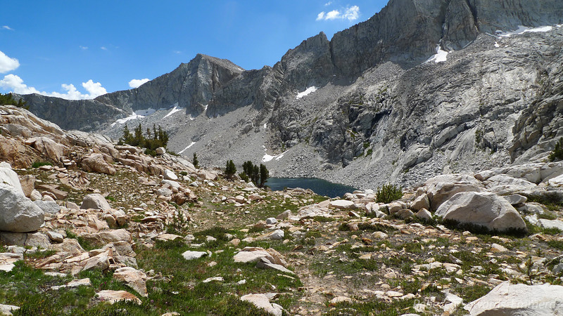 Descending to Merriam Lake