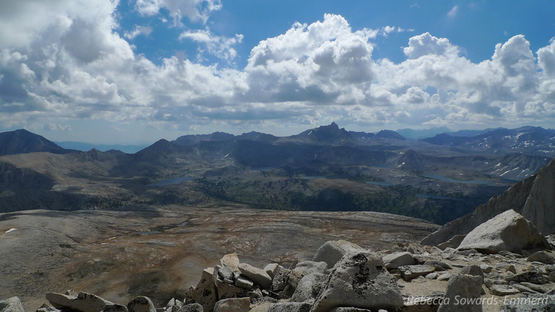 Upper French Canyon and Mt Humpreys from Royce Peak