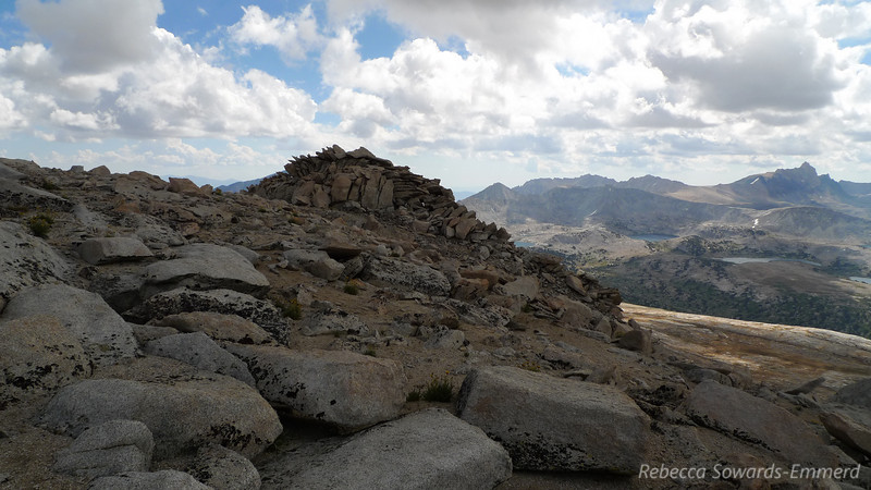 Topping out on the summit plateau. Mt Humpreys on the right.