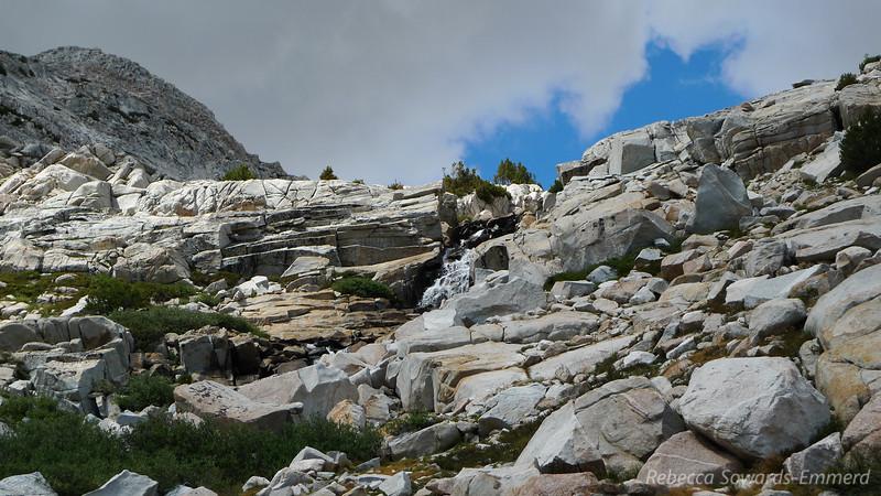 Waterfall above Merriam Lake