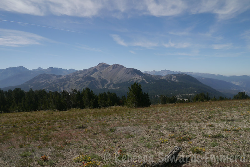 Looking back on Mammoth Mountain. Skiing in the winter, mountain biking in the summer.