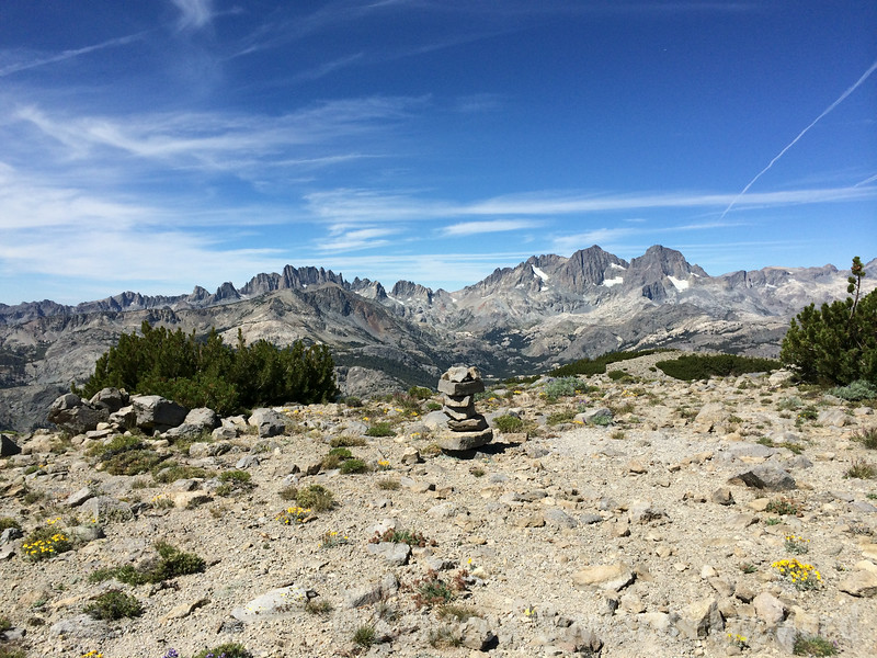 Cairn at unnamed point along the ridge.