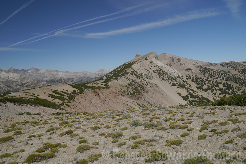 Two teats - the rocky point and the middle point. San Joaquin is the right of the 3 highpoints, just behind Two Teats