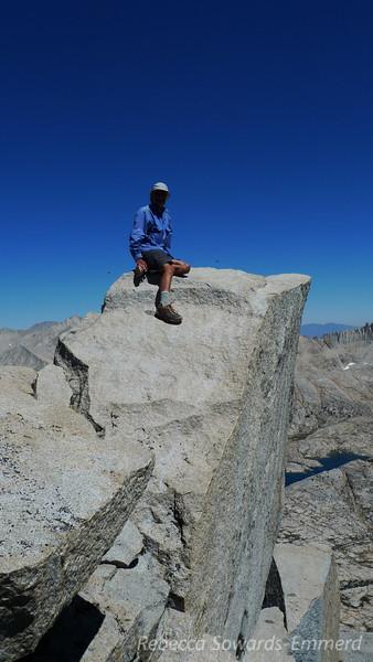 Gordon on the summit block