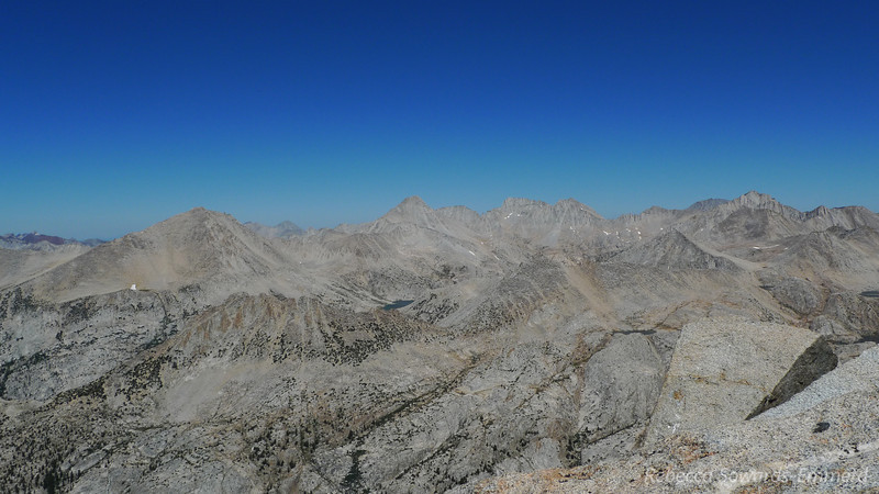 View to the north, including Mt Julius Caesar, our climb from a couple of days ago.