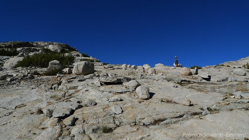 Climbing back up to Vee Lake.
