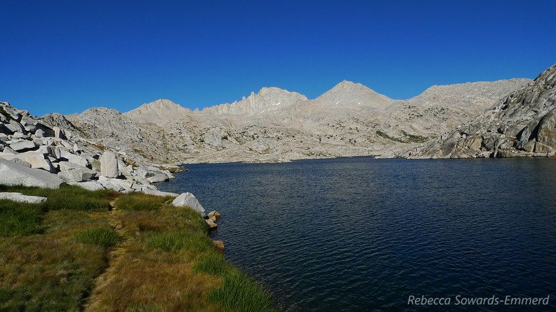 Vee Lake, Feather Peak in center