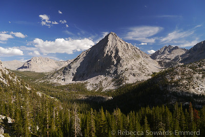 One of my favorite views on the whole JMT. East Vidette from the trail as it descends from Bullfrog lake.