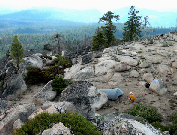 Campsite on the Smith Peak summit<br /> <br /> one of the best backcountry campsites I've had. Dry though - have to carry your water up.