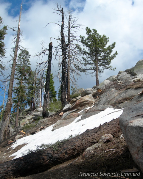 Approaching Smith Peak - there was still a bit of snow on this ~7800 foot peak