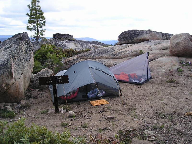 Another campsite shot, along with the typical Yosemite marker for Smith Peak.