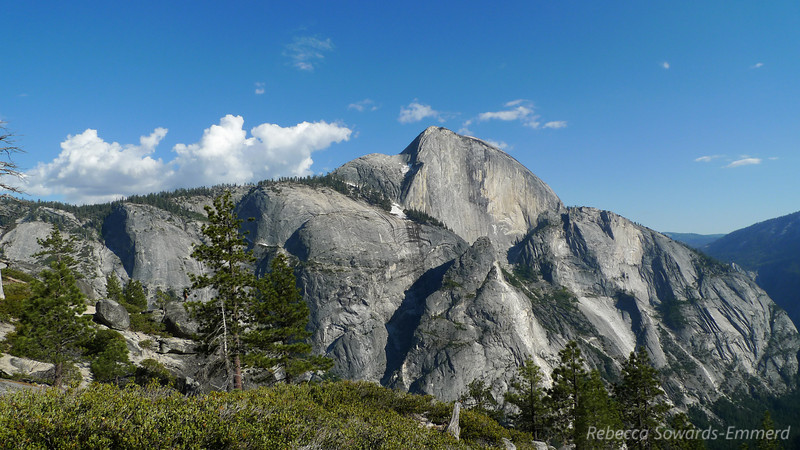 We could see the people on the cables climbing up half dome - little silhouetted ants.