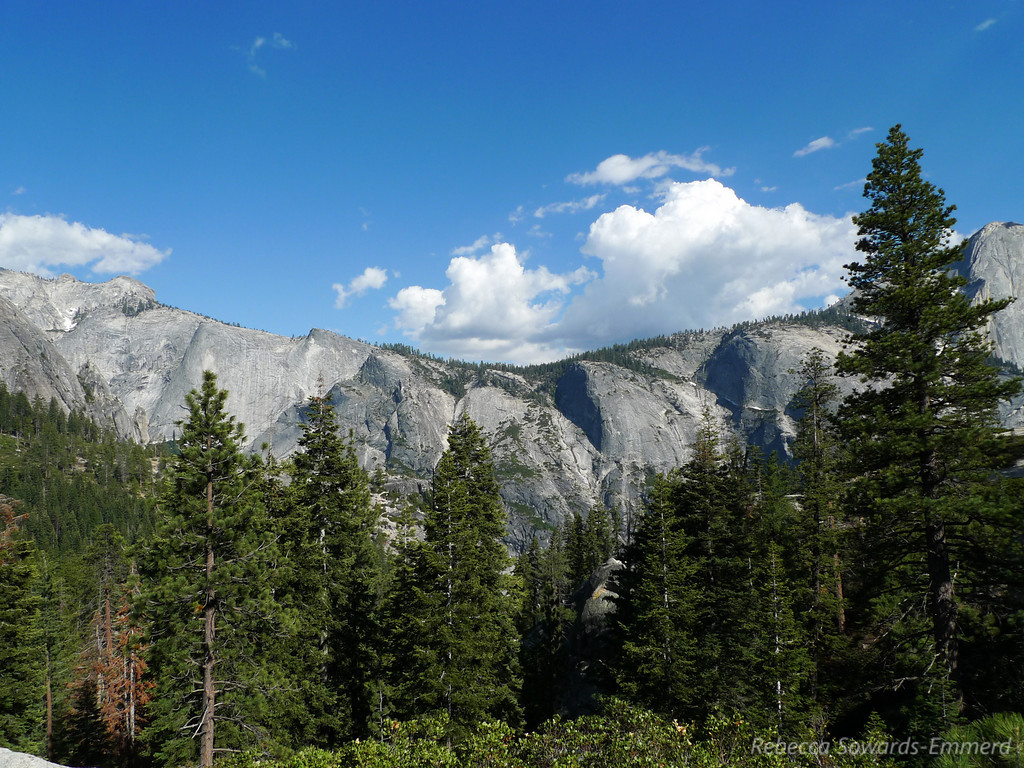 Ridge between Clouds Rest and Half Dome