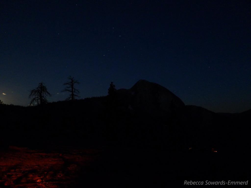 Scorpio above Half Dome and campfire glow