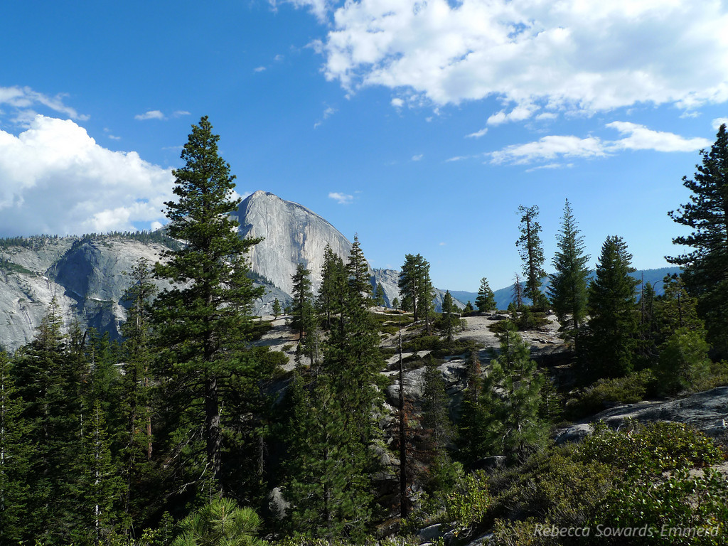 The ridge in the foreground is where we camped - this is the view from the other side of Snow Creek.