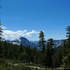 Our first view of half dome from the trail.