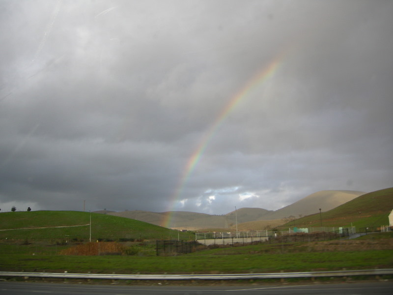 Rainbow near Morgan Hill on the drive home