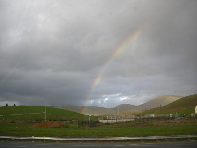 Rainbow near Morgan Hill on the drive home