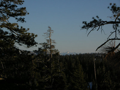 The High sierra in the distance.
