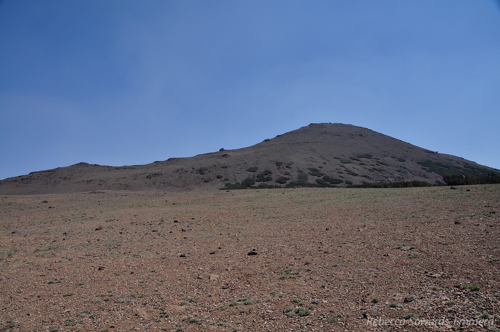 Looking back on Sonora Peak. You can see smoky tufts in the air, but the sky is a bit bluer.