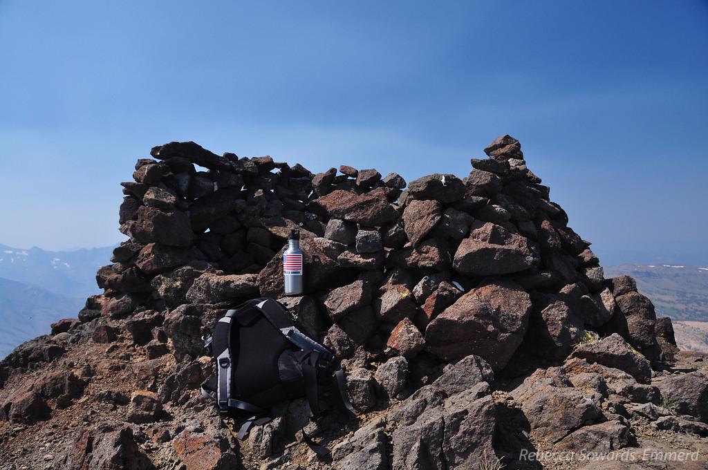 Wind break on the summit proper.