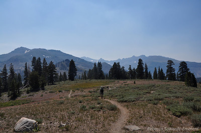Smoke is still thick in the air - I'm glad we dialed back our hike for the day.