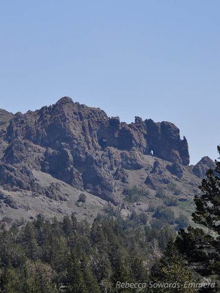 Cool distant keyhole on the north slope of Sonora Peak