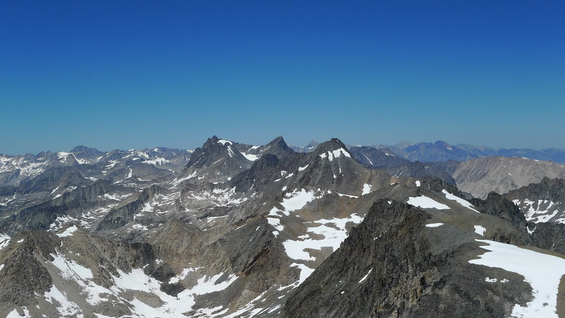 Sill, other Palisade Crest 14ers. The only thing higher than us in the