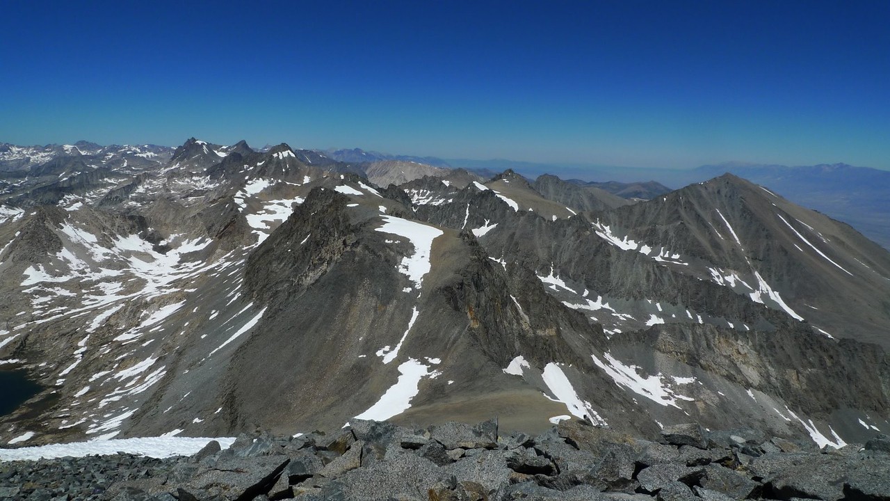Prater (on the other side of the saddle) and the Palisade Crest.